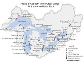 Areas of Concern - Great Lakes